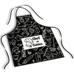 avental mdecore chef de cuisine preto ave0004