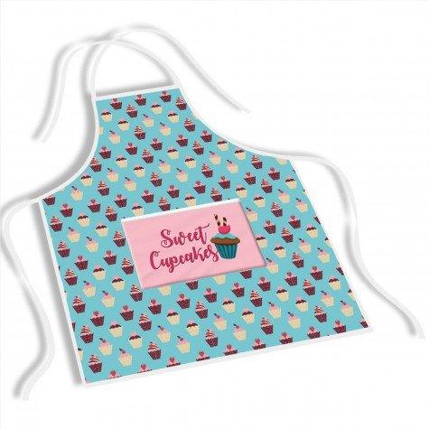 avental mdecore sweet cupcakes  azul turquesa ave0014