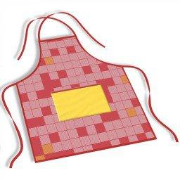 avental mdecore quadriculado  vermelho ave0027