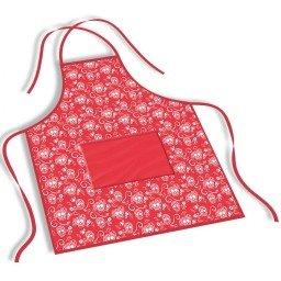 avental mdecore caveiras  vermelho ave0035
