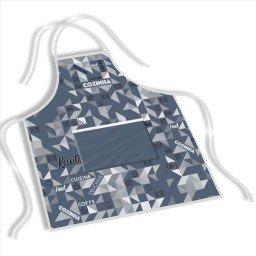 avental mdecore abstrata  azul acinzentado ave0054