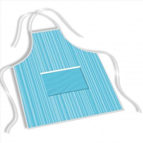 avental mdecore listrada  azul ave0059