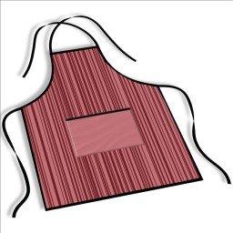 avental mdecore listrada  rosa avermelhado ave0062