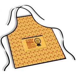 avental mdecore chef bbq  amarelo ave0063