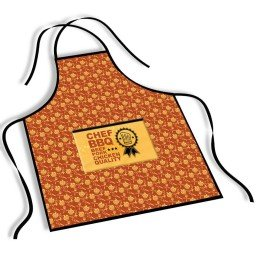 avental mdecore chef bbq  laranja avermelhado ave0064