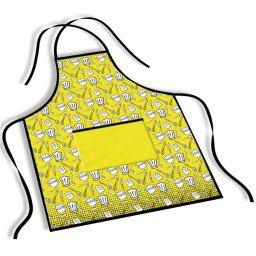 avental mdecore cozinha  amarelo ave0070