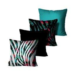 kit almofada floral zebra colorido mdecore dec6140 kit 4