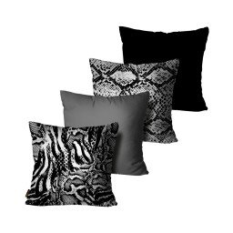 kit almofada animal print cobra mdecore dec6141 kit 4