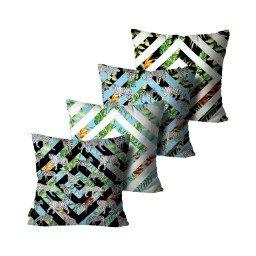 kit almofadas geometrico animais folhas colorido mdecore dec6144 kit 4
