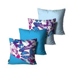kit almofadas borboleta geometrico azul mdecore dec6147 kit 4