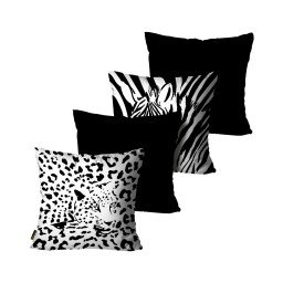 kit almofada onc a zebra bicolor mdecore dec6148 kit 4