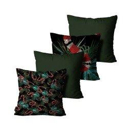 kit almofadas cobra folhas verde mdecore dec6149 kit 4