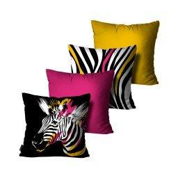 kit almofadas zebra colorido mdecore dec6152 kit 4