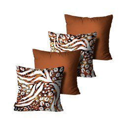 kit almofadas animal print marrom mdecore dec6153 kit 4