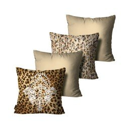 kit almofadas animal print arabesco mdecore dec6160 kit 4