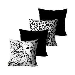 almofada animal print onc a branco dec6167 kit 4