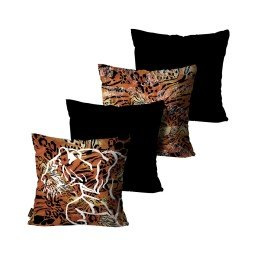 kit almofadas animal print onca mdecore dec6156 kit 4