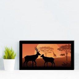 quadro alto relevo alce girafa arvores laranja mdecore qar0003 4