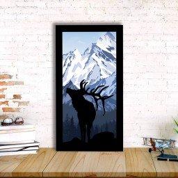 quadro alto relevo alce montanhas azul mdecore qar0008 4
