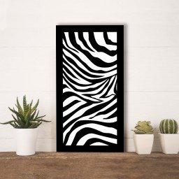 quadro alto relevo animal print zebra mdecore qar0050 4