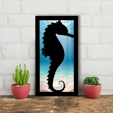 quadro alto relevo cavalo marinho oceano azul mdecore qar0038 4