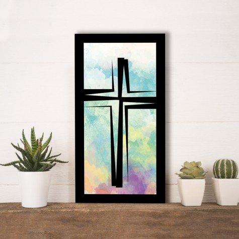 quadro alto relevo cruz abstrato colorido mdecore qar0030 4