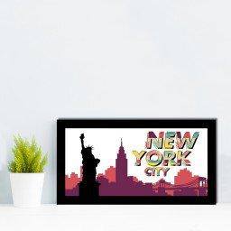 quadro alto relevo estatua liberdade new york colorido mdecore qar0040 4