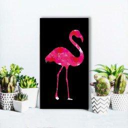 quadro alto relevo flamingo rosa mdecore qar0051 4