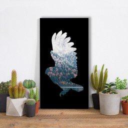 quadro alto relevo floresta aguia preto mdecore qar0052 4