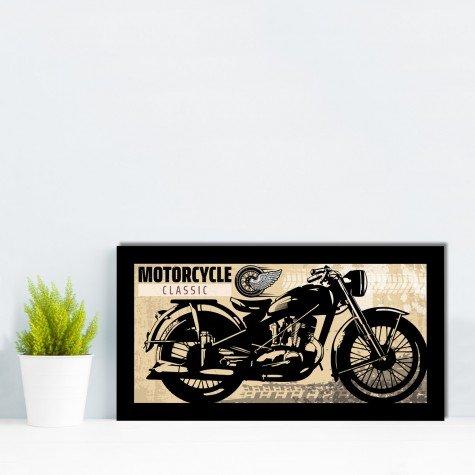 quadro alto relevo motocicleta frase bege mdecore qar0054 4