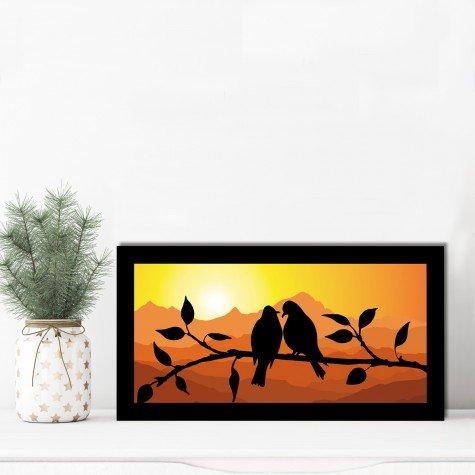 quadro alto relevo passarinhos galhos arvore laranja mdecore qar0024 4