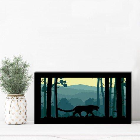 quadro alto relevo tigre arvores floresta verde mdecore qar0010 4