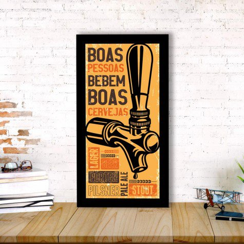 quadro alto relevo torneira chopp frases laranja mdecore qar0049 4