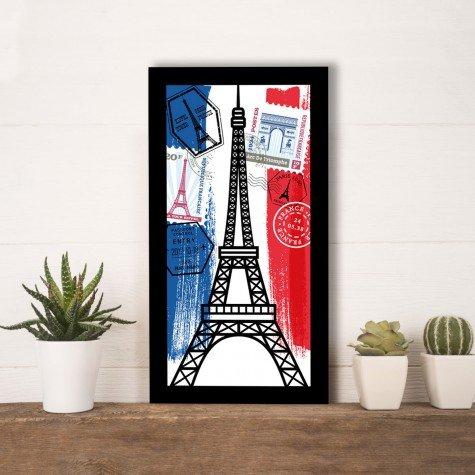 quadro alto relevo torre eiffel selo correios colorido mdecore qar0016 4