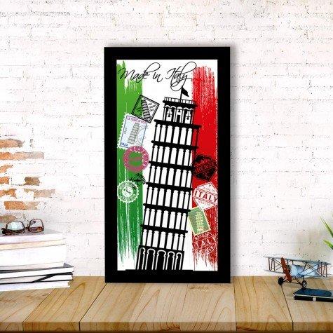 quadro alto relevo torre pisa italia selo correios colorido mdecore qar0026 4