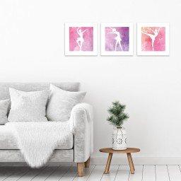 quadro decoratido mdf infantil bailarinha rosa branco mdecore pqar0002 kit mk 2