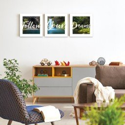 quadro decorativo mdf follow your dreams paisagem colorido mdecore pqar0024 kit mk 2