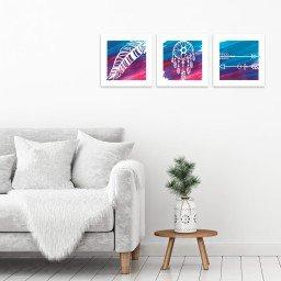 quadro decorativo mdf colorido pena apanhador sonhos flechas mdecore pqar0025 kit mk 2