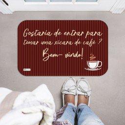 tapete decorativo frase cafe bem vindo listras marrom mdecore tpr0003 2