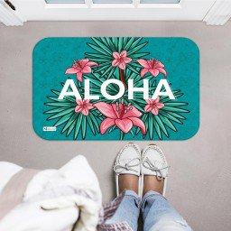 tapete decorativo verde flores rosa aloha mdecore tpr0013 2