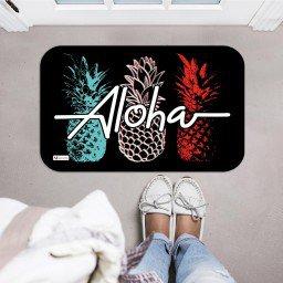 tapete decorativo fundo preto abacaxi colorido aloha mdecore tpr0014 2
