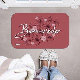 tapete decorativo bem vindo flores rose mdecore tpr0022 2