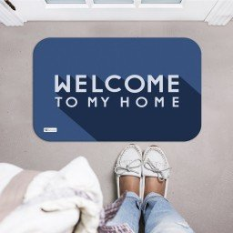 tapete decorativo azul welcome to my home mdecore tpr0026 2