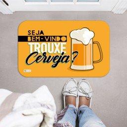 tapete decorativo bem vindo trouxe cerveja chopp amarelo mdecore tpr0033 2