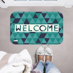 tapete decorativo geometrico welcome verde mdecore tpr0035 2