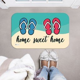 tapete decorativo home sweet home chinelos colorido mdecore tpr0040 2
