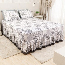 lencol colcha de casal com elastico mandalas cinza 158x198cm lec0002 158 1
