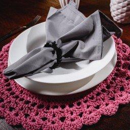 jogo americano porta copo croche redondo rosa jac0007 3