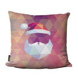 almofada natal geometrico papai noel rosa mdecore nat4058 1