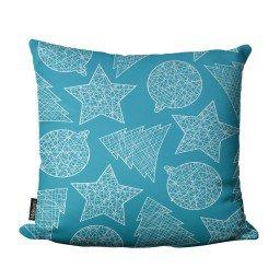 almofada natal enfeite arvore estrelas azul mdecore nat4060 1